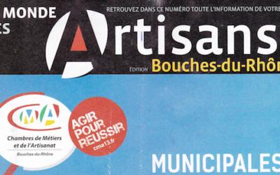 «Le Monde des Artisans» éditions Bouches-du-Rhône, janvier-février 2014