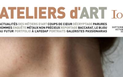 Ateliers d'art n°107, septembre-octobre 2013 «Bijoux de créateurs»