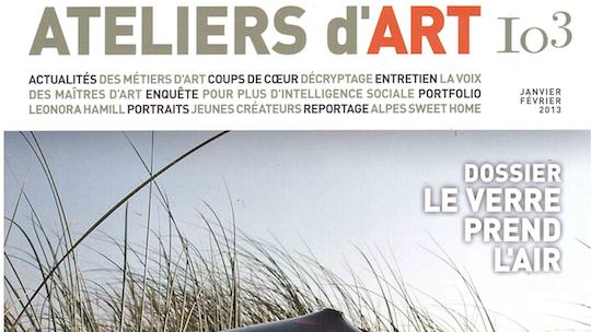 «Ateliers d'art» n°103, janvier-février 2013