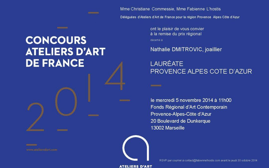 Nathalie Dmitrovic, lauréate 2014 du Concours Ateliers d'Art de France pour la région PACA