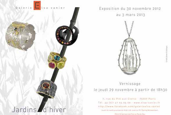 «Jardins d'hiver» à la Galerie Elsa Vannier du 30 novembre 2012 au 3 mars 2013